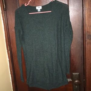 Old navy black and green v neck sweater